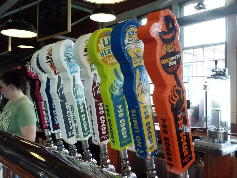 Two Roads Brewing Beers on Tap - 800 dpi