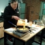 Chef Mike making Pineapple Foster - Copy
