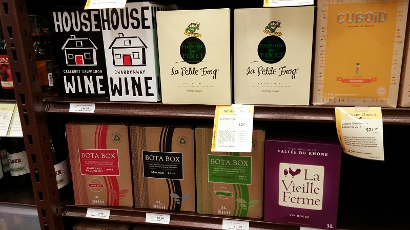 Lots of Box Wine options at Total Wine on Main Ave. - Copy