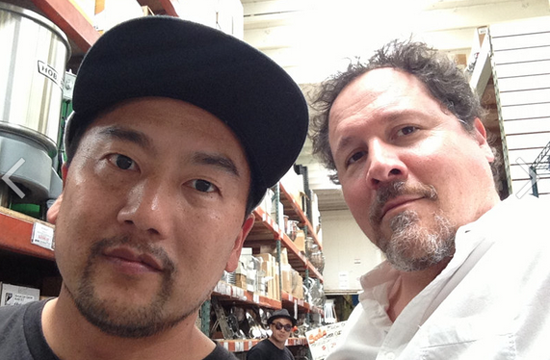 Roy Choi and Jon Faverau  training for the movie, Chef
