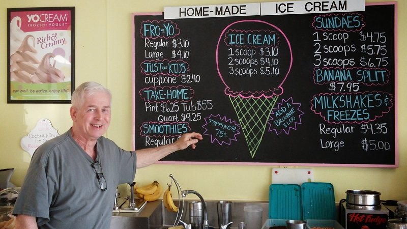 Ice Cream Chef Steve Tyminski at Sweet Ashley's