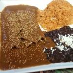 Enchiladas at Los Poblanos