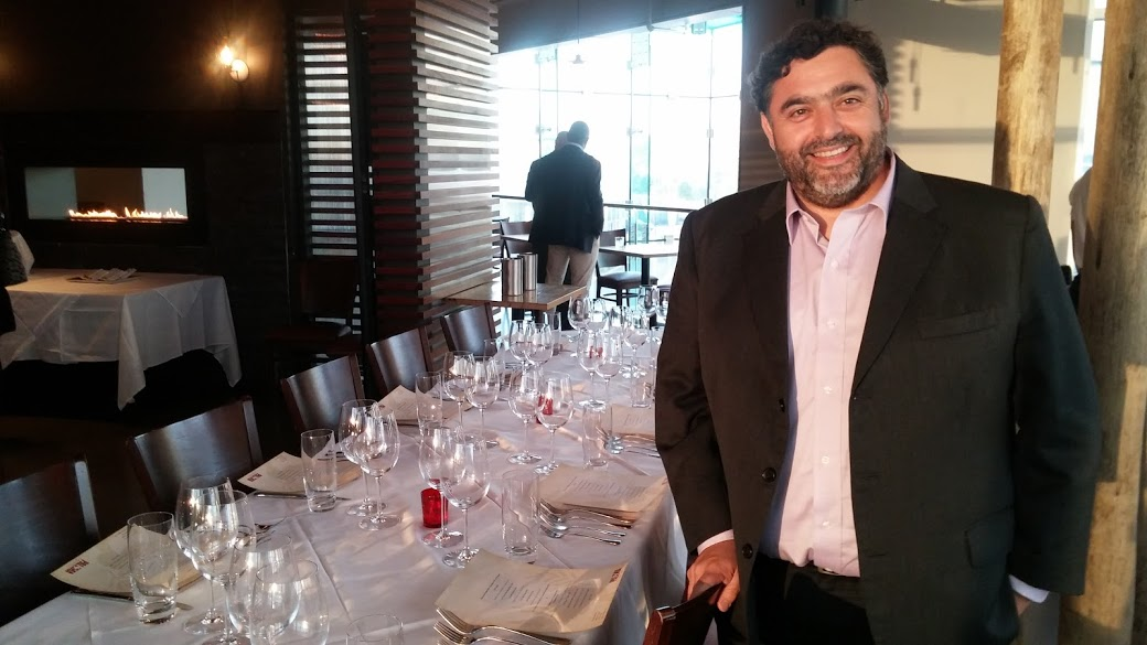 Winemaker Marcelo Gallardo ready to discuss the wines of Los Vascos in from Chile