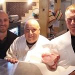 Ernie, Sal and Bob at Harbor Harvest with my pork chops