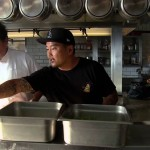 Jon Faverau and Roy Choi training for the movie Chef