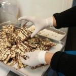 Almond and chocolate nib bark