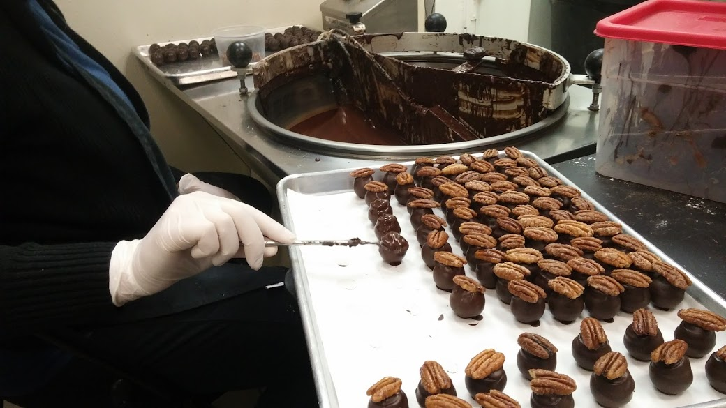 Making Chocolates by Hand