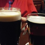 Guinness on the left, Smithwick's on the right