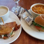 Soup and Sandwich at Riverview Bistro