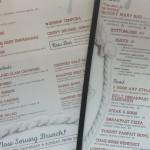 The regular menu plus brunch.