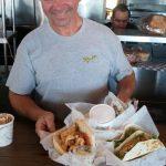 Clyda Ripka at his Beach Cafe