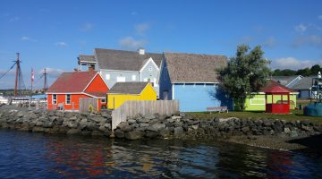 Colorful fisherman's shacks at Pictou