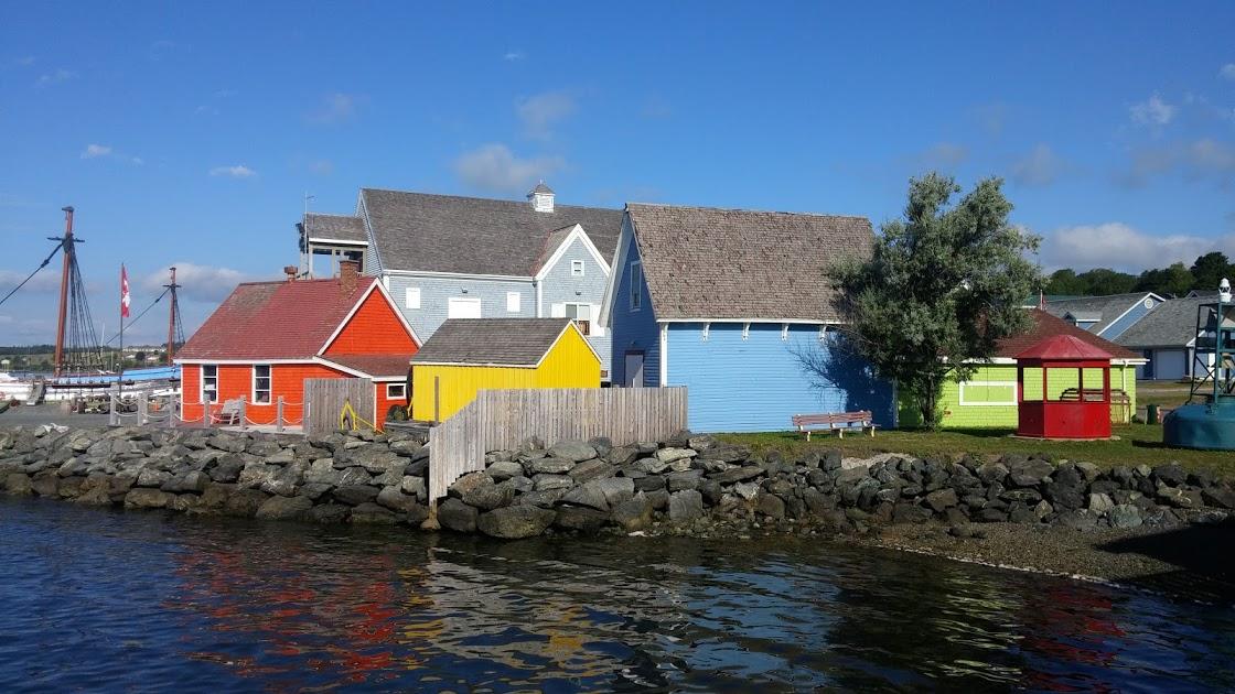 Colorful fisherman's shacks at Pictou