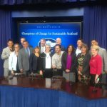 Linda and the other Champions of Change at The White House