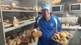 Darren Monaco shows his wares at Village Bagels