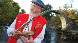 Bob Moore with his Golden Spurtle award
