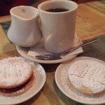 Coffee and Alfajores for dessert