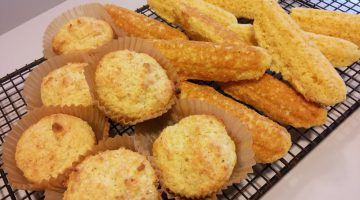 Cornbread muffins and sticks