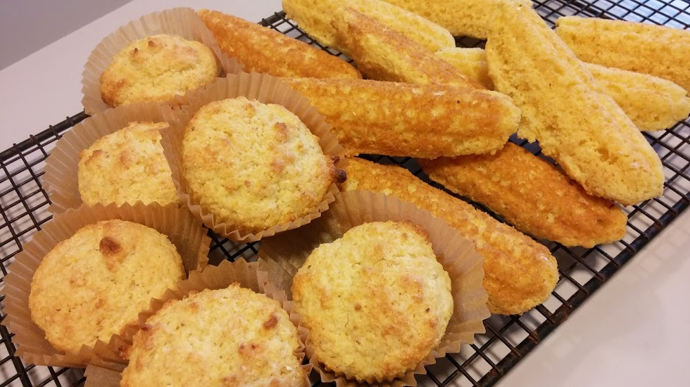 Cornbread muffins and sticks
