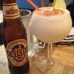 Cristal beer and a Pisco sour