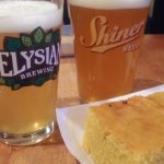 Beer and cornbread to start