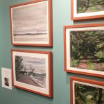 Watercolors on display at the Fairfield University Museum