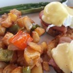 Eggs Benedict at Harbor Lights