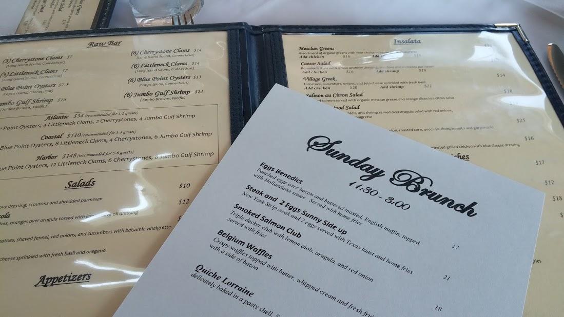 Harbor Lights brunch menu