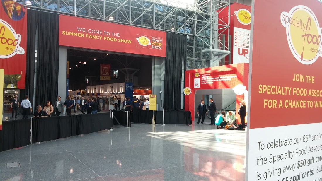 The Fancy Food show entrance