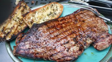 A beautifully browned steak