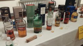 Singla malt scotch lined up for tasting