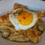 Chicken fried bacon at Peaches