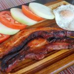 Slab bacon and eggs at Washington Prime