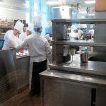 Students at work in the Bocuse kitchen