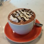 Hot chocolate at Cafe Dolce