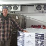 Norm Bloom with oysters ready to ship