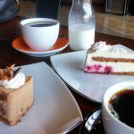 Our coffee and pastry at Cafe Dolce