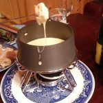 Taking a dip of Fondue