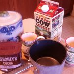 The makings of hot chocolate