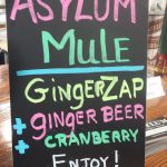 Cocktails with Ginger Zap at Asylum Distillery.
