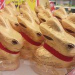 A parade of chocolate bunnies