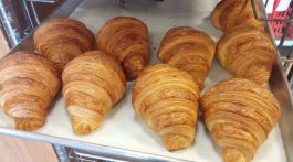Fresh baked croissants from Wave Hill Bread