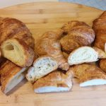 Local croissants ready for tasting