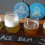 A tasting flight at Nod Hill