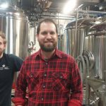 Brewer Kyle Acenowr (L) and Manager David Kaye