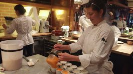 The pastry kitchen at the Chez Panisse Cafe