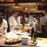 The busy Chez Panisse kitchen