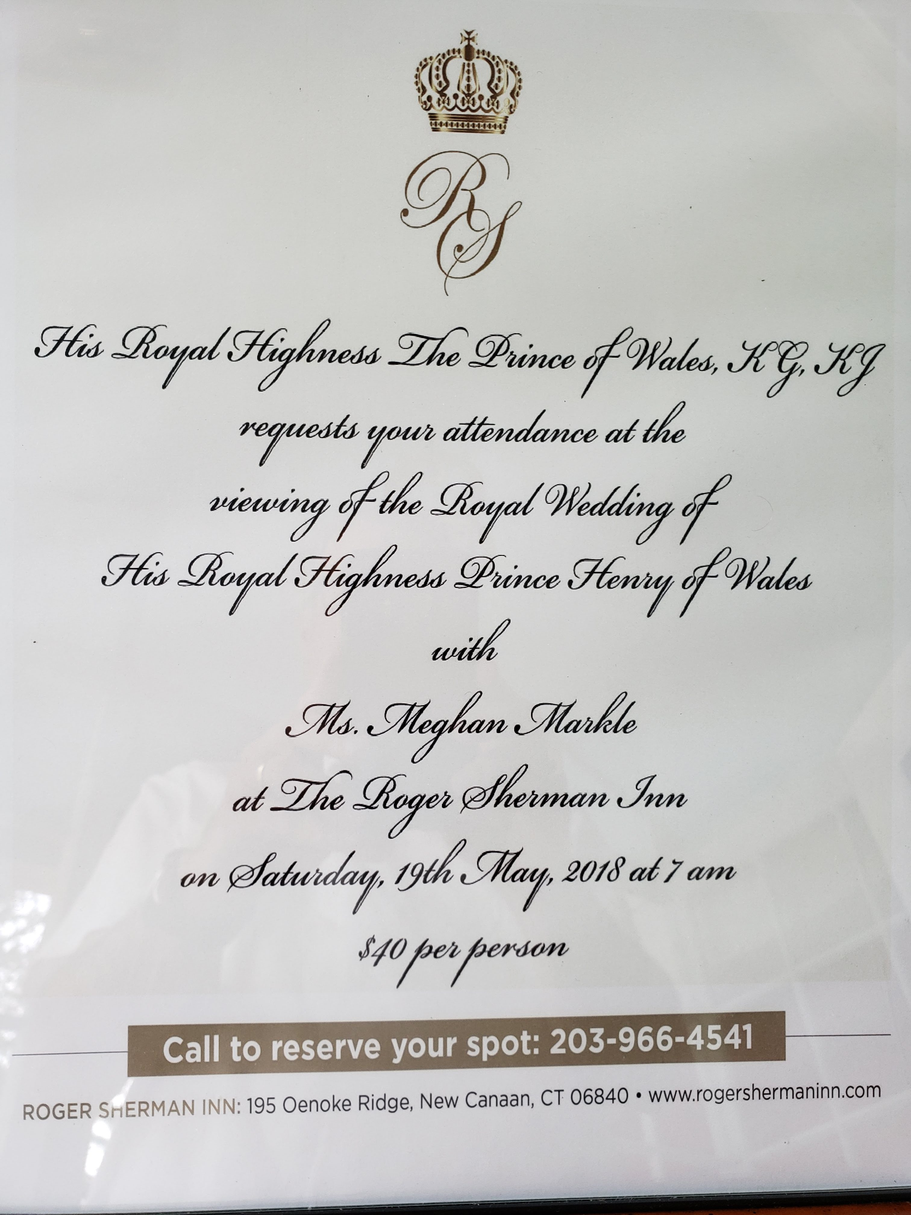 From The Norwalk Hour: Didn\'t Get Your Royal Wedding Invitation ...
