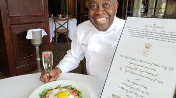 Chef Francois Kwaku-Dongo of the Roger Sherman Inn