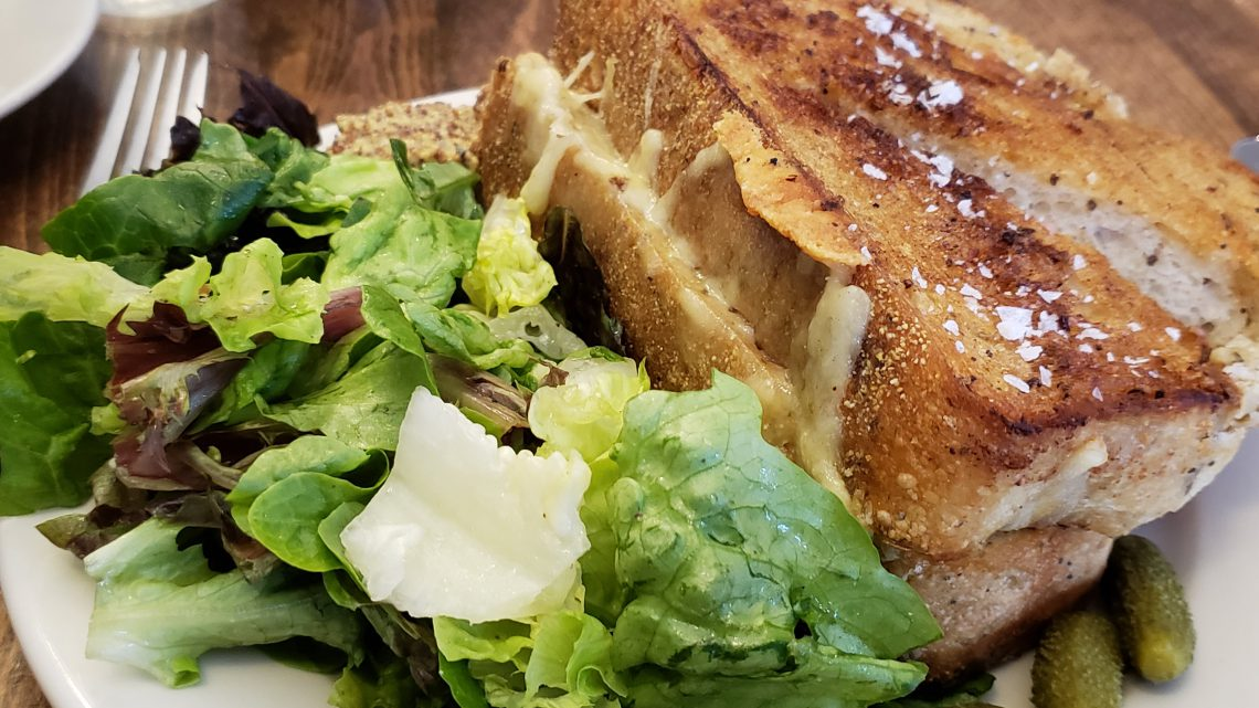 The generous grilled cheese sandwich at Caseus